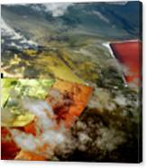 Great Salt Lake From The Air Canvas Print