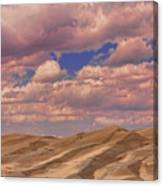 Great Sand Dunes And Great Clouds Canvas Print