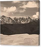 Great Sand Dunes Panorama 1 Sepia Canvas Print