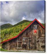 Great Smoky Mountains Barn Canvas Print