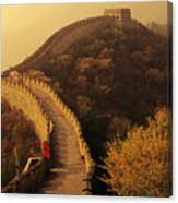 Great Wall In The Mist Canvas Print