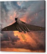Great White Vulcan Canvas Print