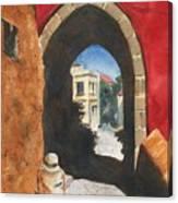 Grecian Passageway Canvas Print