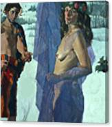 Greek Adam And Eve Canvas Print