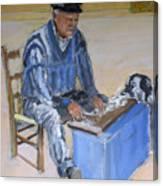 Greek Fisherman Crete Canvas Print