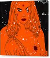 Greek Goddess In The Sky Canvas Print