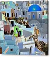 Greek Isle Of Santorini Canvas Print