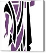 Greek Man In Purple Canvas Print