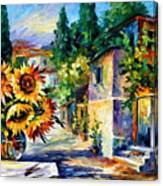 Greek Noon - Palette Knife Oil Painting On Canvas By Leonid Afremov Canvas Print