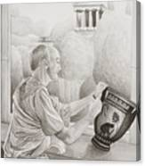 Greek Pottery Canvas Print
