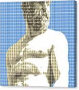 Greek Statue #2 - Blue Canvas Print
