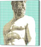 Greek Statue #2 - Light Blue Canvas Print