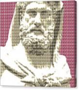 Greek Statue #3 - Dark Red Canvas Print