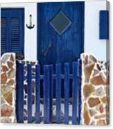 Greek Traditional House Canvas Print