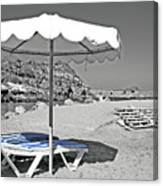 Greek Umbrella Canvas Print