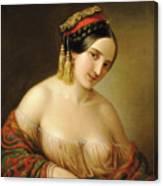 Greek Woman Canvas Print