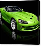 Green 2008 Dodge Viper Srt10 Roadster Canvas Print