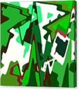 Green Abstract Squared #2 Canvas Print