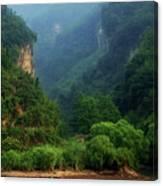 Green Along The Yangtze Canvas Print