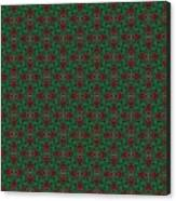 Green And Brown Chunky Cross Mirror Pattern Canvas Print