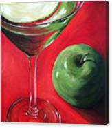 Green Apple Martini Canvas Print