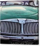 Green Austin Healey In Drive Canvas Print