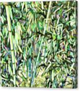Green Bamboo Tree Canvas Print