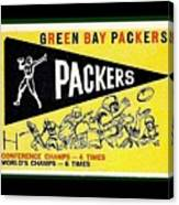 Green Bay Packers 1959 Pennant Canvas Print