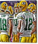 Green Bay Packers Team Art 2 Canvas Print