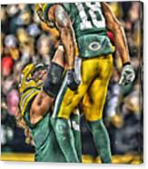 Green Bay Packers Team Art Canvas Print