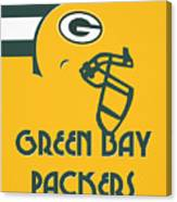 Green Bay Packers Team Vintage Art Canvas Print