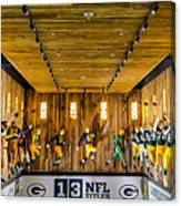 Green Bay Packers Uniforms Then And Now Canvas Print