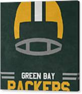 Green Bay Packers Vintage Art Canvas Print