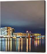 Green Bay Wisconsin City Skyline At Night Canvas Print