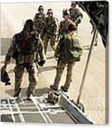 Green Berets Board A C-130h3 Hercules Canvas Print