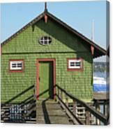 Green Boathouse Canvas Print