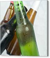 Green Bottle Of Beer Canvas Print