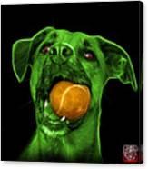 Green Boxer Mix Dog Art - 8173 - Bb Canvas Print