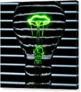 Green Bulb Canvas Print