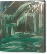 Green Cabin Canvas Print