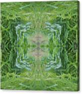 Green Fractal Canvas Print