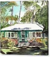Green Cottage Canvas Print