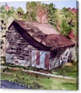 Green Creek Barn Canvas Print