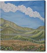 Green Desert Canvas Print