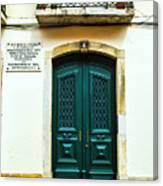 Green Door 6 Canvas Print
