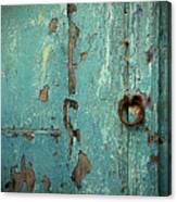 Green Door. Essaouira. Morocco Canvas Print