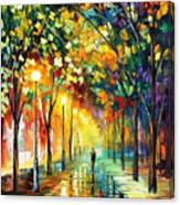 Green Dreams - Palette Knife Oil Painting On Canvas By Leonid Afremov Canvas Print