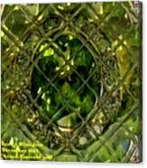 Green Emerald And White Diamond Brooch Distortion Aa H A Canvas Print