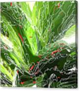 Green Explosion Canvas Print