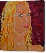 Green Eyed Lady  Canvas Print